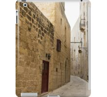 The Silent City - Big Walls Closing in and an Inviting Red Door in Mdina, Malta iPad Case/Skin