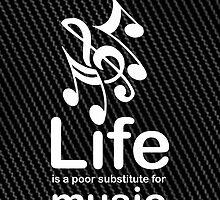 Music v Life - Carbon Fibre Finish by Ron Marton