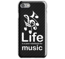 Music v Life - Carbon Fibre Finish iPhone Case/Skin