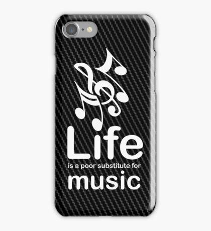 Music v Life - Carbon Fibre Finish iPhone Case/Skin