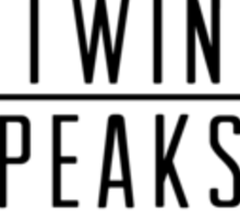 Welcome To Twin Peaks (Black) Sticker