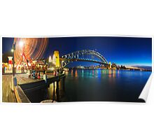 Sydney Harbour Panorama from Luna Park Poster