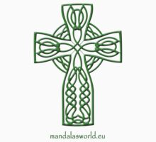 Celtic Cross n4 Green by Mandala's World