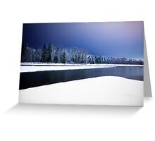 Wallace and Skykomish Rivers - Night Greeting Card