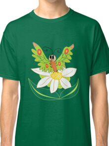 Butterfly on flower cute cartoon Classic T-Shirt