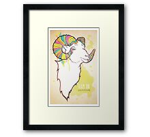 Ram On Framed Print