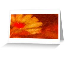 Abstract Flower Oil Painting #6 Greeting Card