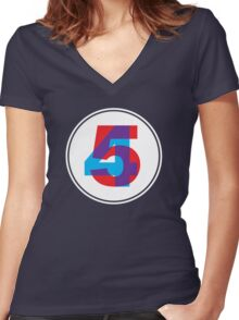 Forty Five Women's Fitted V-Neck T-Shirt