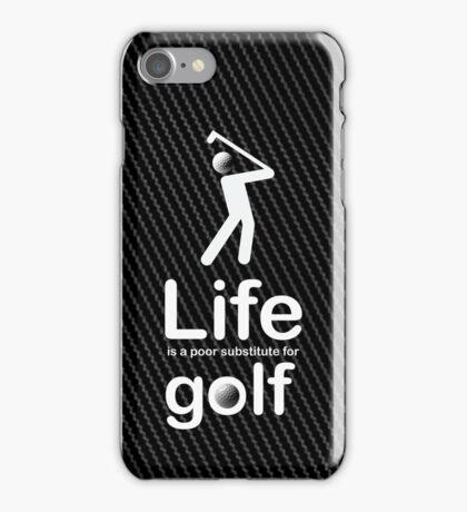 Golf v Life - Carbon Fibre Finish iPhone Case/Skin