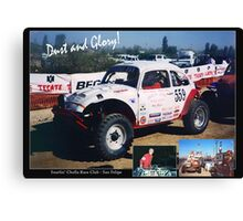Dust and Glory (Baja Races) Canvas Print