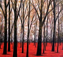Abstract Trees Oil Painting #5 by Fred Seghetti