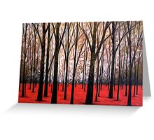 Abstract Trees Oil Painting #5 Greeting Card