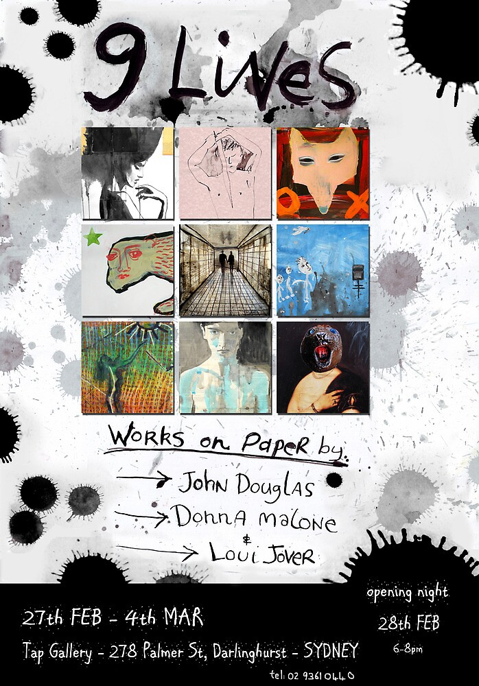 '9 Lives' group show by donna malone