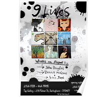 '9 Lives' group show Poster