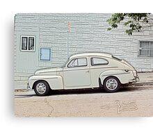 White Volvo Canvas Print