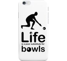 Bowls v Life - White iPhone Case/Skin