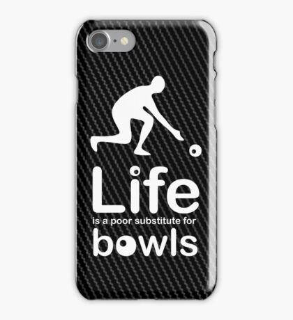 Bowls v Life - Carbon Fibre Finish iPhone Case/Skin