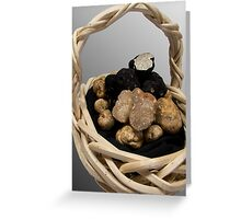 Oregon Truffles in a Basket Greeting Card
