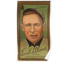 Benjamin K Edwards Collection Frank J Chance Chicago Cubs baseball card portrait Poster