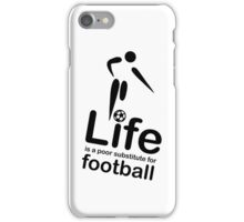 Soccer v Life - White iPhone Case/Skin