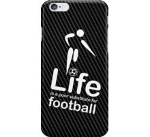 Soccer v Life - Carbon Fibre Finish iPhone Case/Skin