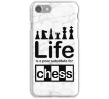Chess v Life - Marble iPhone Case/Skin