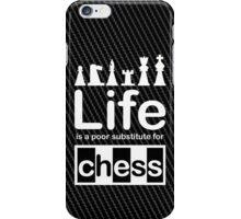 Chess v Life - Carbon Fibre Finish iPhone Case/Skin