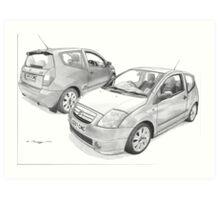 Citroen C2 VTS Art Print