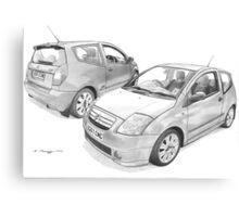 Citroen C2 VTS Canvas Print