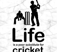Cricket v Life - Marble by Ron Marton