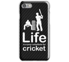 Cricket v Life - Carbon Fibre Finish iPhone Case/Skin
