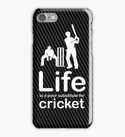 Cricket v Life - Carbon Fibre Finish iPhone Case/Skin