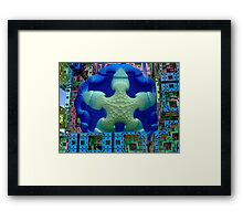 Stay Puft Marshmallow Man Invades NYC  (UF0591) Framed Print