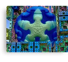 Stay Puft Marshmallow Man Invades NYC  (UF0591) Canvas Print