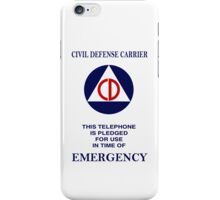 Civil Defense Carrier iPhone Case/Skin
