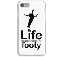 AFL v Life - White iPhone Case/Skin