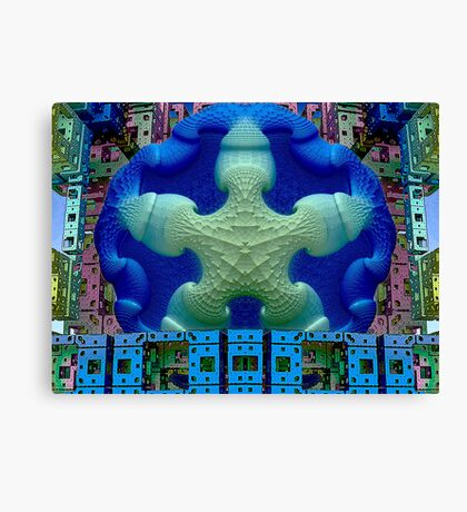 M3D: Stay Puft Takes a High Dive  (UF0592) Canvas Print