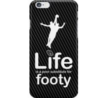 AFL v Life - Carbon Fibre Finish iPhone Case/Skin