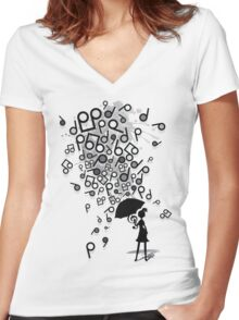 Singin' in the Rain Women's Fitted V-Neck T-Shirt