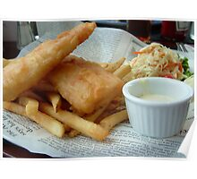 Fish & Chips in NewsPaper Poster