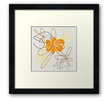 design art flower abstract beauty backgrounds beautiful nature decoration floral spring Framed Print