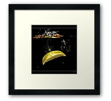Lemon Splash Framed Print