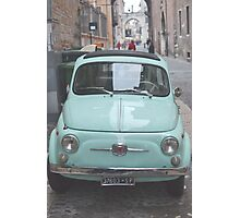 Fiat 500 Oldtimer. Photographic Print
