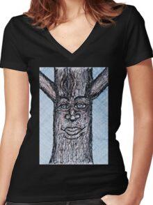 Tree Spirit Women's Fitted V-Neck T-Shirt