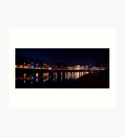 Vilnius @ night Art Print
