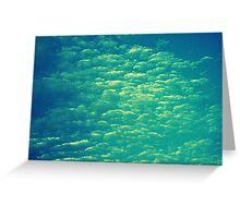 As long as the sky and the ocean touch, so will our minds our hearts. Greeting Card
