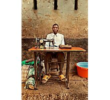 Great African Tailor Photographic Print