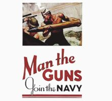 World War II Poster - Man the Guns by docdoran