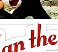 World War II Poster - Man the Guns Sticker