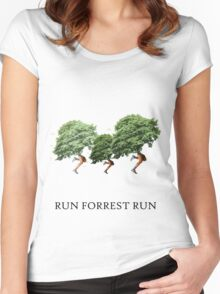 RUN FORREST RUN! Women's Fitted Scoop T-Shirt